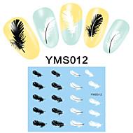 4PCS Cartoon Watermark Nail Art Stickers YMS09-12