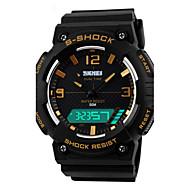 Hommes Bracelet Montre Numérique LED / Calendrier / Chronographe / Etanche / Double Fuseaux Horaires / penggera / Montre de Sport PU Bande