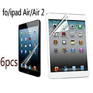 6pcs grande transparence lcd cristal professionnelle protecteur d'écran avec chiffon de nettoyage pour iPad air / air 2