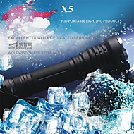LED Flashlights LED 5 Mode 1000 LumensWaterproof  Impact Resistant Nonslip grip Self-Defense Super Light