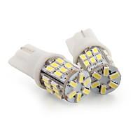 2 * T10 30 LED 3014 SMD weißes Auto Keilseite Kennzeichen-Glühlampe-Lampen-
