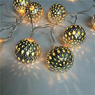 hul ut 10 lampe, smijern ball batteripakke lys streng