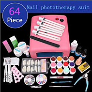 1Set Manicure Supplies Phototherapy Manicure UV Phototherapy Lamp Set Phototherapy Glue 64 Pieces