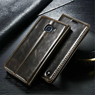 Varten Samsung Galaxy kotelo Korttikotelo / Lomapkko / Tuella / Flip Etui Kokonaan peittävä Etui Yksivärinen Aito nahka SamsungS6 edge