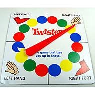 klassischen Twister Familienspiel, die Sie bindet in Knoten Brettspiel
