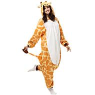 Kigurumi Piżama Żyrafa Trykot opinający ciało/Śpiochy dla dorosłych Halloween Animal Piżamy Żółty Patchwork Polary Kigurumi Dla obu płci