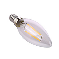 YWXLIGHT E14 / E26/E27 4W 2*COB 320 LM Warm White / Natural White LED Candle Bulbs AC 220-240 V