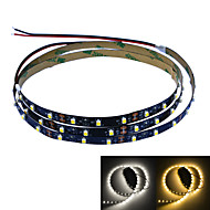 Jiawen 100cm 4w 60x3528smd hvid / varm hvid lys LED strip lampe til bil og skab (DC 12V)