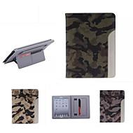 ultratynde camouflage stil læderetui mode cool med bælte kortholderen tilfældet for ipad luft / ipad 5