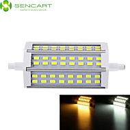 R7S 118mm 48x 5730SMD 12W Warm White / Cool White 1200LM 220°Beam Horizontal Plug Lights Dimmable Flood Light AC85-265V