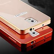 Mert Samsung Galaxy Note Galvanizálás Case Hátlap Case Egyszínű Fém Samsung Note 4 / Note 3