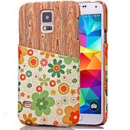 Voor Samsung Galaxy hoesje Kaarthouder hoesje Achterkantje hoesje Houtnerf PU-leer Samsung S5 Mini / S5 / S4