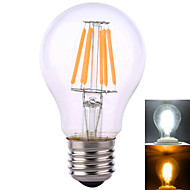YWXLIGHT E26/E27 12W 6 COB 1020 LM Warm White / Natural White A60(A19) Decorative Globe Bulbs AC 220-240 / AC 110-130 V