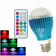 1 pcs SchöneColors GU10 / E26/E27 / B22 9 W 450LM RGB A60(A19) Dimmable / Remote-Controlled / Decorative LED Globe Bulb
