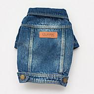 כלבים מעילים / ז'קטים מג'ינס כחול קיץ/אביב ג'ינסים קאובוי
