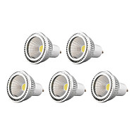 5W GU10 Focos LED MR16 1 COB 450 lm Blanco Cálido / Blanco Fresco / Blanco Natural Regulable AC 100-240 / AC 110-130 V 5 piezas