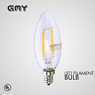 Luces LED en Vela Decorativa GMY B E12 2W 2 COB ≥200 LM Blanco Cálido AC 110-130 V 1 pieza