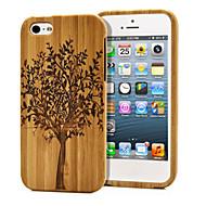 handmade madeira natural carne de madeira de bambu duro da tampa do caso para o iphone 5 / 5s