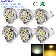 YouOKLight® 6PCS GU10 7W CRI=80 700LM  Warm White/Cool White  15-SMD5630 LED Spot Lights(AC110-120V/220-240V)