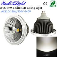 YouOKLight® 1PCS GU10 18W 1500lm Natural White 2-COB LED Ceiling Light-(Higher cooling efficiency) AC 110-120V/220-240V