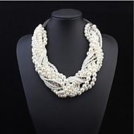 Damen Statement Ketten Layered Ketten Perlenkette Perle Perle Aleación Modisch Schmuck mit Aussage Mehrlagig Europäisch Modeschmuck