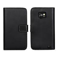 valódi bőr pénztárca flip-tok kártya és állni tok Samsung i9100 Galaxy S2