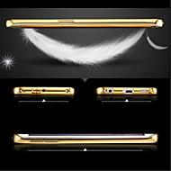lyx pläterad metallram lägger transparent st täck telefonens skal till Samsung Galaxy s6edge