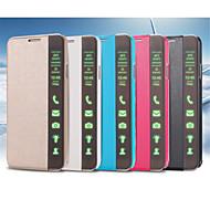 Mert Samsung Galaxy Note Állvánnyal / Automatikus készenlét/ébresztés / Flip Case Teljes védelem Case Egyszínű Műbőr SamsungNote 4 / Note