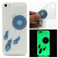 For iPhone 5 Case Glow in the Dark Case Back Cover Case Dream Catcher Soft TPU iPhone SE/5s/5