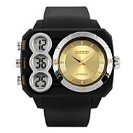 SKMEI Hommes Montre de Sport Montre Bracelet Quartz Quartz Japonais LCD Calendrier Chronographe Etanche Double Fuseaux Horaires penggera