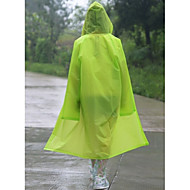 Translucent Fashion Adult EVA Men And Women Outdoor On Foot Raincoat Fashion Coat Hooded Poncho Waterproof Jacket