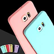 Für Samsung Galaxy Hülle Other Hülle Rückseitenabdeckung Hülle Einheitliche Farbe Silikon SamsungS6 edge plus / S6 edge / S6 / S5 / S4 /