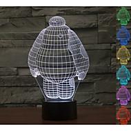 3d atmosphère visuelle de l'humeur de modèle de bande dessinée conduit décoration usb lampe de table cadeau coloré lumière de nuit