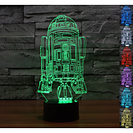 3d atmosphère visuelle de l'humeur de navire de guerre a conduit décoration usb lampe de table cadeau coloré lumière de nuit
