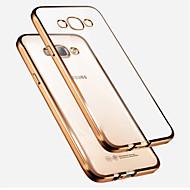 Voor Samsung Galaxy hoesje Beplating / Doorzichtig hoesje Achterkantje hoesje Effen kleur TPU Samsung A7 / A5