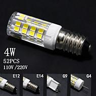 5PCS, G4/G9/E12/E14,4W,110V/220V,double contacts corn lights, indicating bulbs, bulbs,  household lighting, corn lights