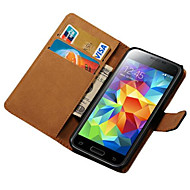 PU Leather Flip Case with Stand for Samsung Galaxy S5 Mini G800 Wallet Style