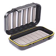 Mizugiwa Plastic Waterproof Fly Fishing Bait Dry Wet Flies Box Storage Tackle Case 22e Small Pocket Size 136x86x36mm