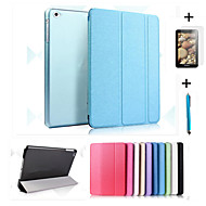 Smart Cover Leather Case + PC Translucent Back Case For Apple iPad Air +Free Gift Protector Film+Touch Pen