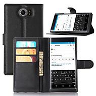 Na Etui do Blackberry Etui na karty / Z podpórką / Flip Kılıf Futerał Kılıf Jeden kolor Twarde Skóra PU na BlackBerry