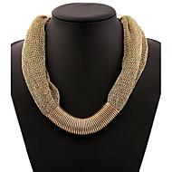 Žene Izjava Ogrlice Legura Moda Zlato Svjetloplav Jewelry Special Occasion Rođendan