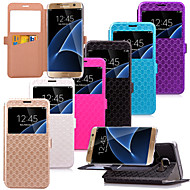 karzea ™ gyémánt mintás TPU, műbőr tok állvány Samsung Galaxy S7 / s7 él (vegyes színek)