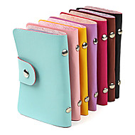Stylish PU Leather Business Credit Card Holder(24-Pocket Assorted Color)