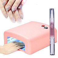 36W UV-lamp nagel lichttherapie machine 4light buis + 1cuticle Revitalizer olie