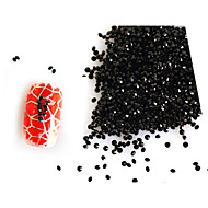 3D Nail Art 1440pcs/packs Black Micro Zircon Diamond 1.1/1.2/1.3/1.4/1.5/1.6mmRhinestones Decorations DIY  NC223
