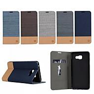 luxe flip canvas lederen tas met portemonnee kaartslot houder voor de Samsung Galaxy (2016) A3 / A5 / a7 a710 A7100