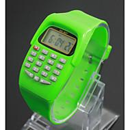 Kids' Charm Watch Calculator Calendar Quartz Digital Candy color Cool Watches Unique Watches