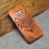 натуральное дерево кейс Тимбервулвз Samsung лесной волк тотем жесткий задняя крышка для галактики s6 край + / s6 край / s6