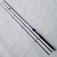 Spinhengel Staaldraad / Aluminium / EVA / Koolstof 2.1 M Aas Uitzoeken / Zoetwater Vissen / Algemeen Vissenalgemeen Staaf Zwart / Lavendel