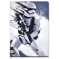 Robot Pattern PU Leather Case with Stand and Card Slot for iPad 4/3/2